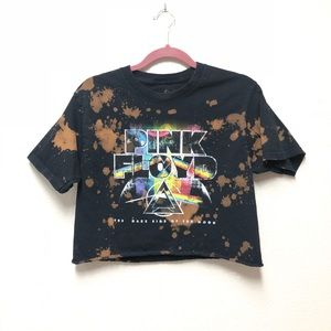 Pink Floyd Graphic Cropped Band Tee